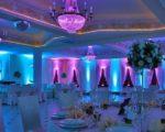 dekoracja światłem na weselu